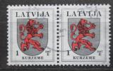 Poštovní známky Lotyšsko 2007 Znak Kurzeme pár Mi# 371 D X