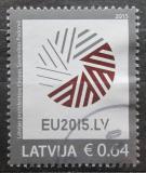 Poštovní známka Lotyšsko 2015 Prezidentství v Radě Evropy Mi# 928
