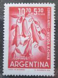 Poštovní známka Argentina 1960 Lapageria rosea, národní květina Chile Mi# 743