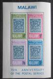 Poštovní známky Malawi 1966 Poštovní služby, 75. výročí Mi# Block 6 Kat 9€