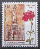Poštovní známka Jugoslávie 1990 Den práce, 100. výročí Mi# 2416