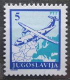 Poštovní známka Jugoslávie 1990 Poštovní letadlo Mi# 2399