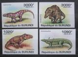 Poštovní známky Burundi 2011 Prehistoričtí krokodýli neperf. Mi# 2070-73 B