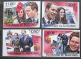 Poštovní známky Burundi 2011 Princ William a Kate neperf. Mi# 2282-85 B