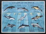 Poštovní známky Gambie 1995 Delfíni neperf. Mi# 2243-51 B Kat 10€