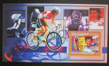 Poštovní známka Guinea 2006 Cyklistika, J. Longo-Ciprelli DELUXE Mi# 4467 Block