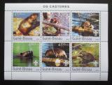 Poštovní známky Guinea-Bissau 2003 Bobři Mi# 2470-75 Kat 11€