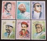 Poštovní známky Kuba 2007 Zpěváci a skladatelé Mi# 4939-44