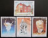 Poštovní známky Kuba 1993 P. I. Čajkovský Mi# 3718-21