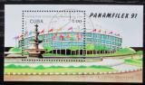 Poštovní známka Kuba 1991 Výstava PANAMFILEX Mi# Block 124
