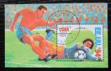 Poštovní známka Kuba 1994 MS ve fotbale Mi# Block 136