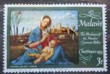 Poštovní známka Malawi 1974 Vánoce, umění, Giovanni Bellini Mi# 224
