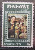 Poštovní známka Malawi 1977 Vánoce, umění Mi# 289