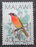 Poštovní známka Malawi 1988 Ťuhýkovec černočelý Mi# 510