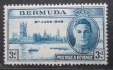 Poštovní známka Bermudy 1946 Budova parlamentu v Londýně Mi# 119