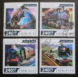 Poštovní známky Džibutsko 2017 Parní lokomotivy Mi# 1628-31 Kat 10€