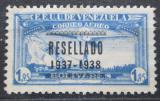 Poštovní známka Venezuela 1937 Letadlo nad Caracasem přetisk Mi# 226 Kat 10€