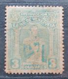 Poštovní známka Venezuela 1914 Simón Bolívar, kolkovací Mi# 113