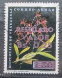 Poštovní známka Venezuela 1965 Schomburgkia undulata, orchidej přetisk Mi# 1599