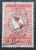 Poštovní známka Venezuela 1957 Kniha a mapa Ameriky Mi# 1148