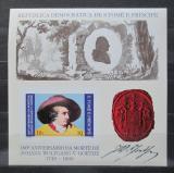 Poštovní známka Svatý Tomáš 1982 Johann Wolfgang Goethe Mi# Block 91 B Kat 22€