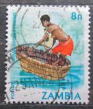Poštovní známka Zambie 1981 Tradiční rybolov Mi# 252