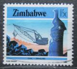 Poštovní známka Zimbabwe 1985 Těžba uhlí Mi# 317
