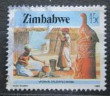 Poštovní známka Zimbabwe 1985 Zpracování kukuřice Mi# 326