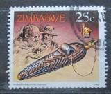 Poštovní známka Zimbabwe 1990 Zásobník na tabák Mi# 427