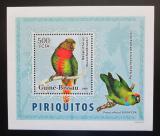 Poštovní známka Guinea-Bissau 2007 Papoušci DELUXE Mi# 3596 Block