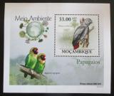 Poštovní známka Mosambik 2010 Papoušci DELUXE Mi# 3510 Block