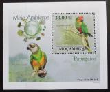 Poštovní známka Mosambik 2010 Papoušci DELUXE Mi# 3511 Block
