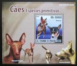 Poštovní známka Svatý Tomáš 2008 Psi DELUXE Mi# 3710 Block