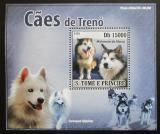 Poštovní známka Svatý Tomáš 2008 Tažní psi DELUXE Mi# 3579 Block
