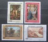 Poštovní známky Togo 1987 Vánoce, umění Mi# 2037-40 Kat 6€