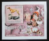 Poštovní známka Svatý Tomáš 2006 Psi a kočky DELUXE Mi# 2801 Block