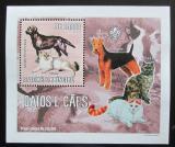 Poštovní známka Svatý Tomáš 2006 Psi a kočky DELUXE Mi# 2802 Block
