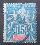 Poštovní známka Madagaskar 1896 Koloniální alegorie Mi# 33