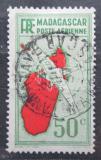 Poštovní známka Madagaskar 1935 Letadlo a mapa Mi# 214