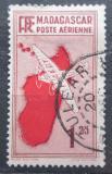 Poštovní známka Madagaskar 1935 Letadlo a mapa Mi# 215
