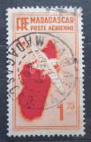 Poštovní známka Madagaskar 1935 Letadlo a mapa Mi# 217 Kat 5.50€