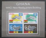 Poštovní známky Ghana 1966 Budovy WHO v Ženevě Mi# Block 20 Kat 30€
