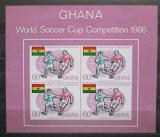 Poštovní známky Ghana 1966 MS ve fotbale Mi# Block 22 Kat 45€