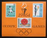 Poštovní známky Ghana 1964 LOH Tokio Mi# Block 12