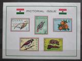 Poštovní známky Ghana 1964 Fauna a flóra Mi# Block 15 Kat 9€