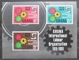 Poštovní známky Ghana 1970 ILO, 50. výročí Mi# Block 37