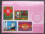 Poštovní známky Ghana 1970 Červený kříž Mi# Block 38 Kat 7.50€