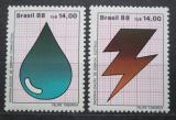 Poštovní známky Brazílie 1988 Úspora energií Mi# Mi# 2245-46
