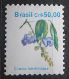 Poštovní známka Brazílie 1990 Clitoria fairchildiana Mi# Mi# 2364