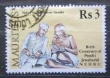 Poštovní známka Mauricius 1989 Džaváharlál Néhrú a Gándhí Mi# Mi# 694